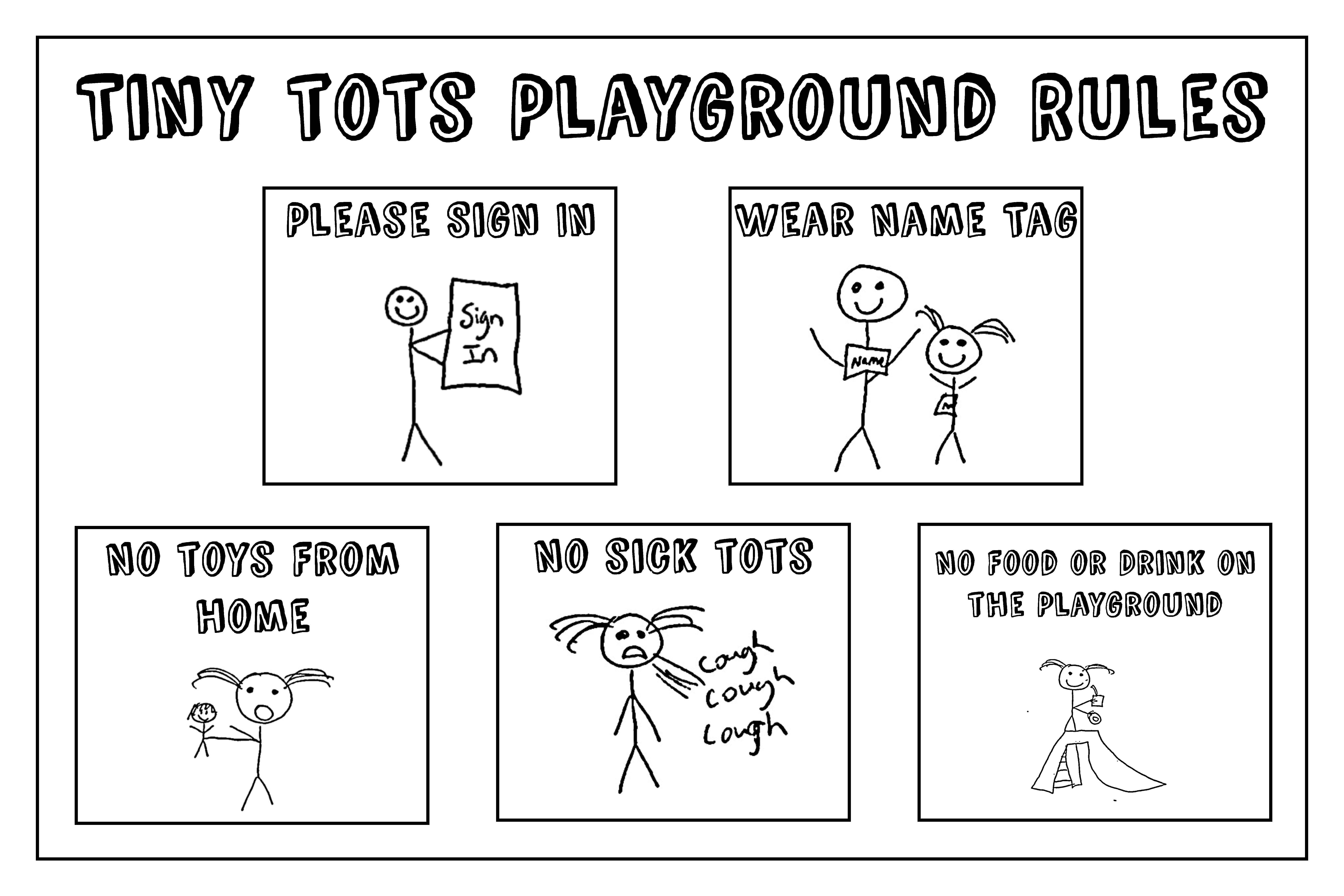 playground rules sick policy tiny tots indoor playground